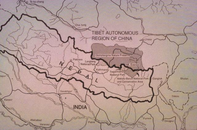 Map of Nepal and National Parks